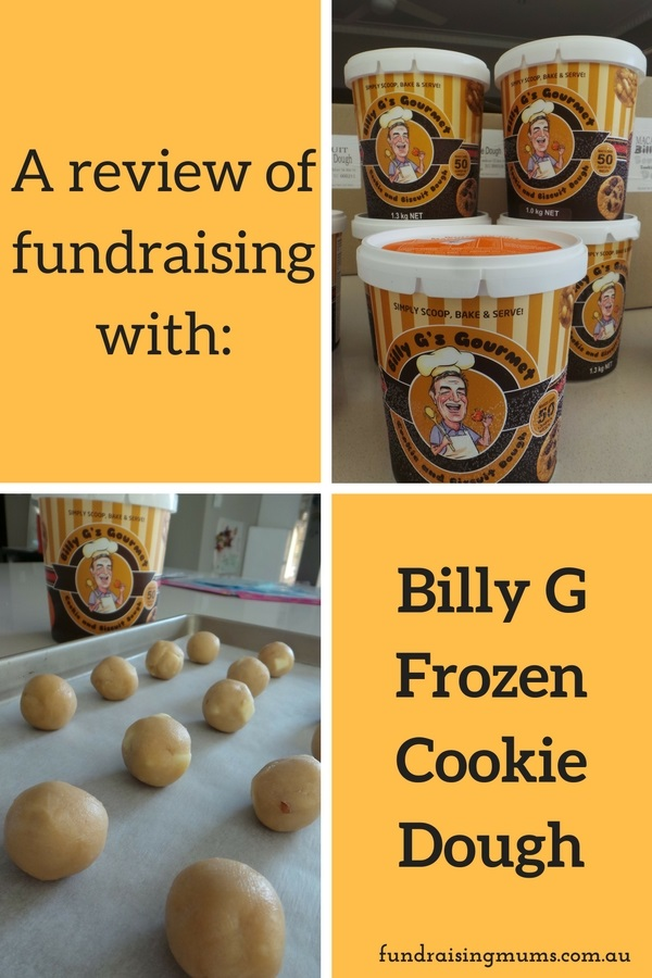 Billy G Frozen Cookie Dough fundraisers