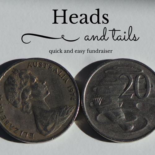 heads and tails easy fundraiser