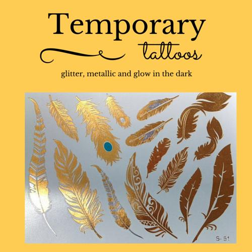 Temporary metallic tattoos
