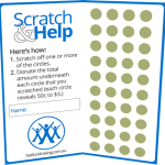 Scratch'n'help booklet from fast Fundraising