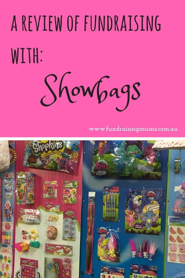 Fundraising with Showbags review