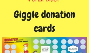 Giggle Donation Cards