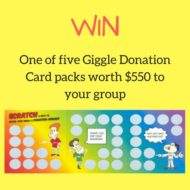 Giggle Donation Cards Giveaway