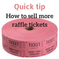 How to sell more raffle tickets