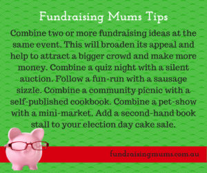 Combine fundraisers to maximise interest and profit