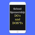 The Dos and Don'ts of School Sponsorship | Fundraising Mums