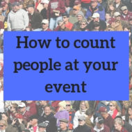 How to count people at your event