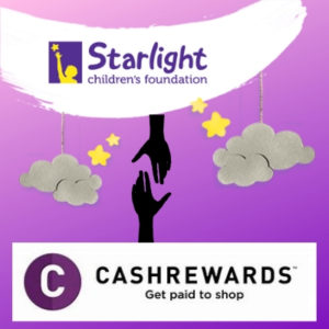 Cashrewards and the Starlight Foundation have teamed up as part of the Pledge 1% project | Fundraising Mums