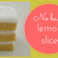 A classic no-bake lemon slice recipe from Create Bake Make for your next cake stall or fundraiser