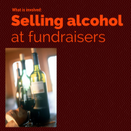 Selling Alcohol at Fundraisers: the basics