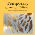 Temporary metallic tattoos
