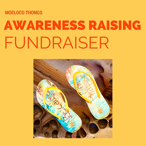 Moeloco thongs, a social enterprise donating shoes to children in poverty
