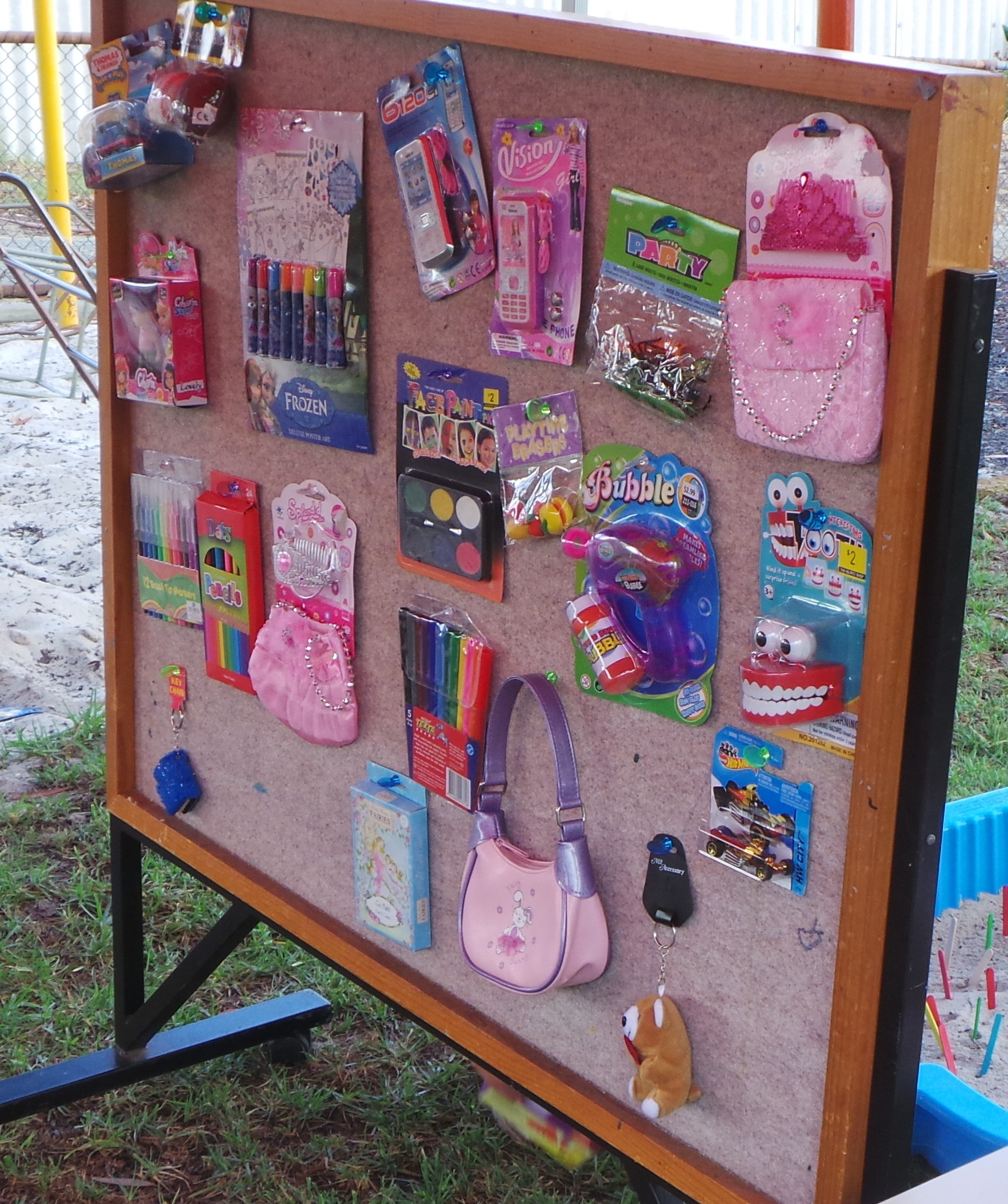Prize display board | Fundraising Mums
