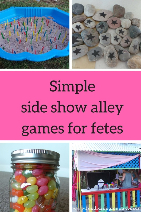 Simple Side Show Alley Games for School Fetes | Fundraising Mums