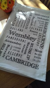 Wembley Primary School fundraising tea towel 2014