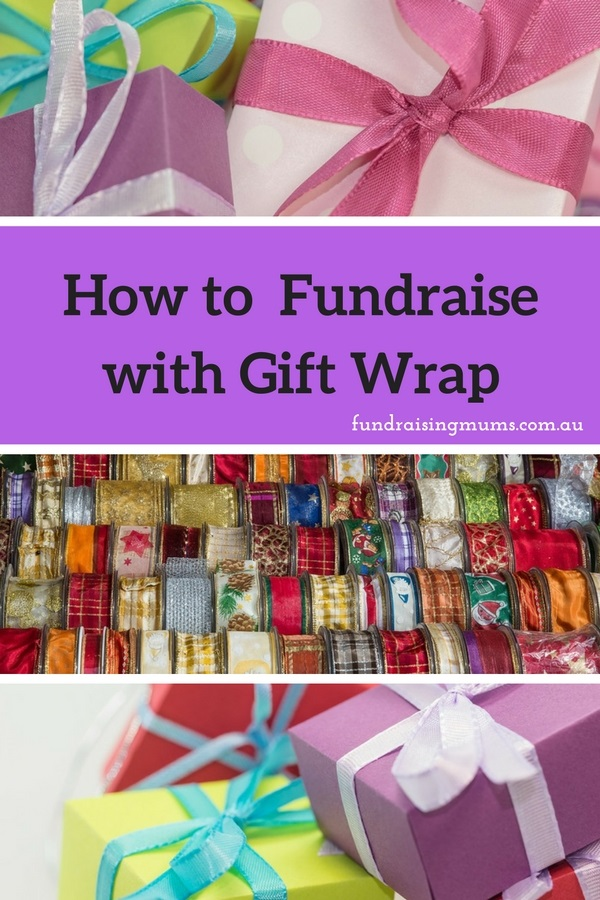 How to fundraise with gift wrap and wrapping paper | Fundraising Mums