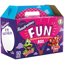 Cadbury chocolate fundraising box