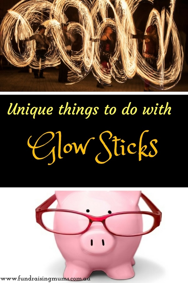 Unique things to do with glow sticks | Decorating events | Fundraising Mums