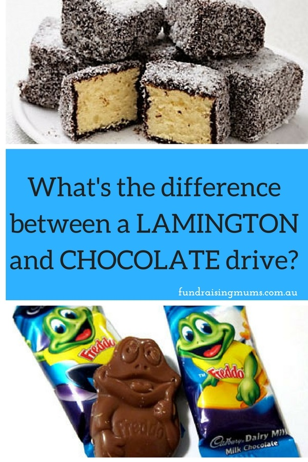 What is the difference between a lamington drive and a chocolate drive fundraiser? | Fundraising Mums