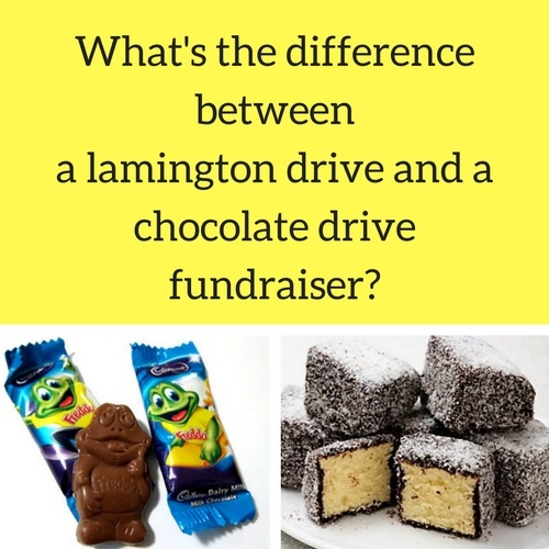 What is the difference between a lamington drive and a chocolate drive fundraiser | Fundraising Mums