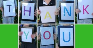 The THANKYOU sign - a visually appealing way to thank volunteers and donors