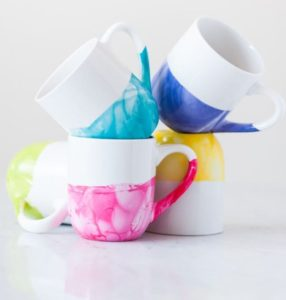 Marble mugs from The Sweetest Occasion