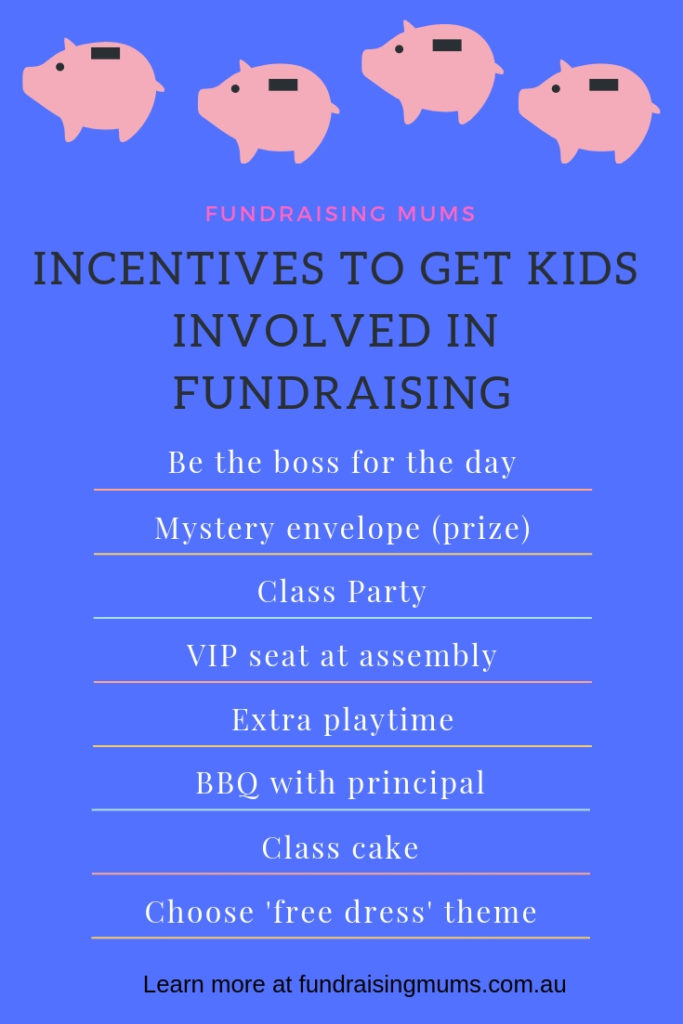 Incentives to get kids involved with fundraising | Fundraising Mums