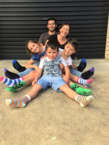 Jolly Soles founder Tanya with her family | Fundraising Mums