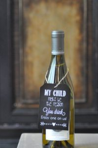 Our child is the reason you drink teacher gift idea