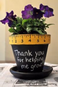 Thank you for helping me grow planter from Our Family Journal