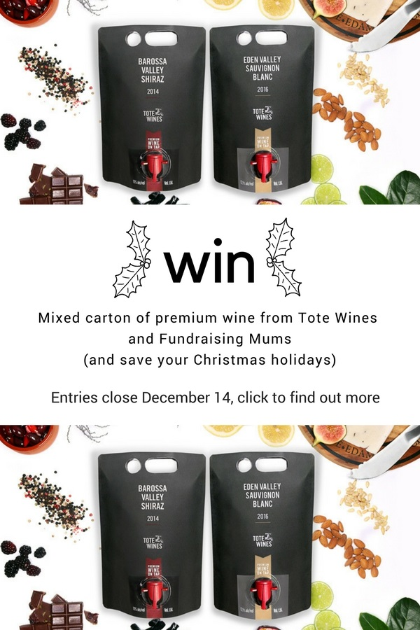Win a carton of premium wine from Tote Wines at Fundraising Mums