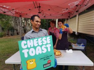 Sizzler cheese toast fundraising stall at Fundraising Mums