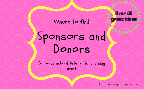 Where to find sponsors and donors to donate to fundraisers in Australia | Fundraising Mums