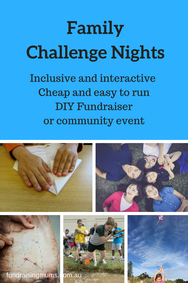 Family Challenge Nights are a cheap and easy fundraising or community event | Fundraising Mums