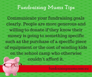 Communicate your fundraising goals clearly