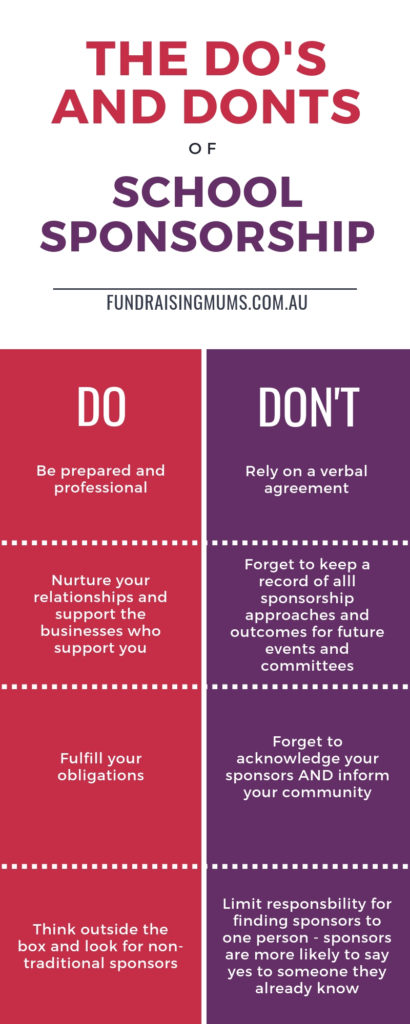 The Do's and Don'ts of School Sponsorship | Fundraising Mums