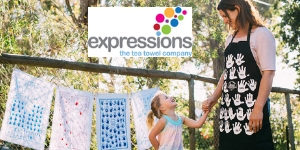 Expressions - creative fundraising with teatowels and aprons