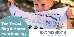 Expressions - creative fundraising with teatowels, bags and aprons