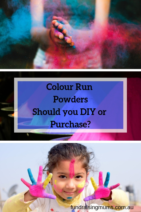 Should you DIY your own colour run powders or is it better to purchase them? Fundraisig Mums