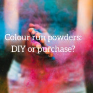 Colour Powders for Colour Run – DIY or Purchase?