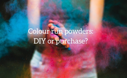 Should you make your own colour run powders or buy them? Fundraising Mums