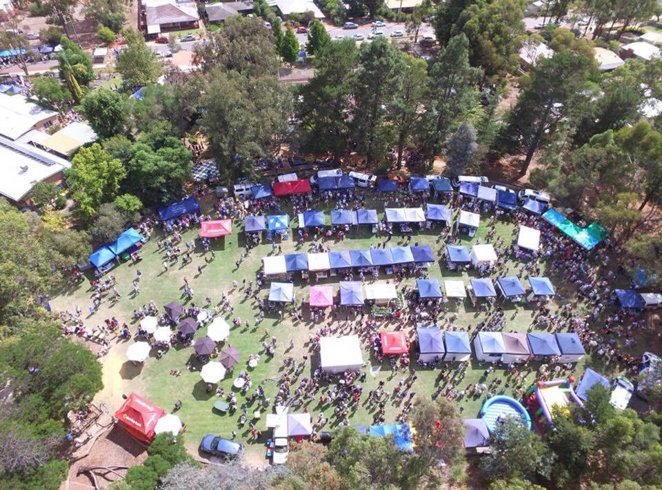 Overview view of Dwellingup Pumpkin Festival | Fundraising Mums