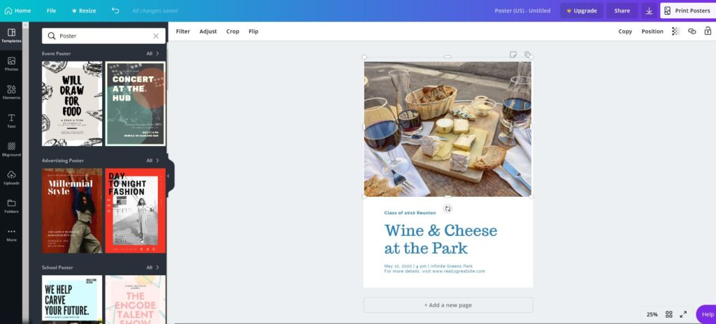 How to use Canva for schools and fundraising event