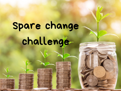 Spare Change Challenges as passive fundraisers | Fundraising Mums