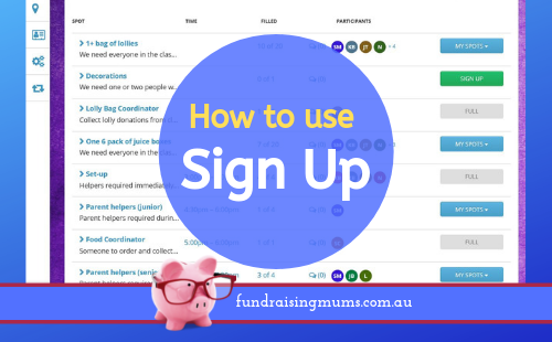How to use SignUp | Fundraising Mums