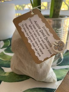 Aussie Seed Bomb packaging is paper and fabric only | Fundraising Mums