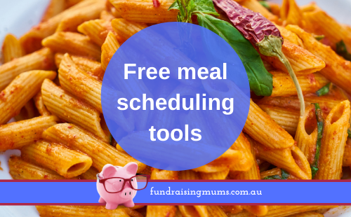 Free online meal scheduling tools | Fundraising Mums