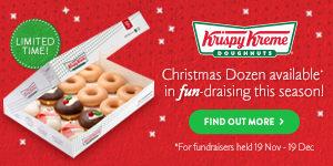 Christmas fundraising with Krispy Kreme Christmas doughnuts | Fundraising Mums