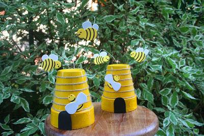 Terracotta pot bee hives