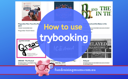 How to use trybooking | Fundraising Mums